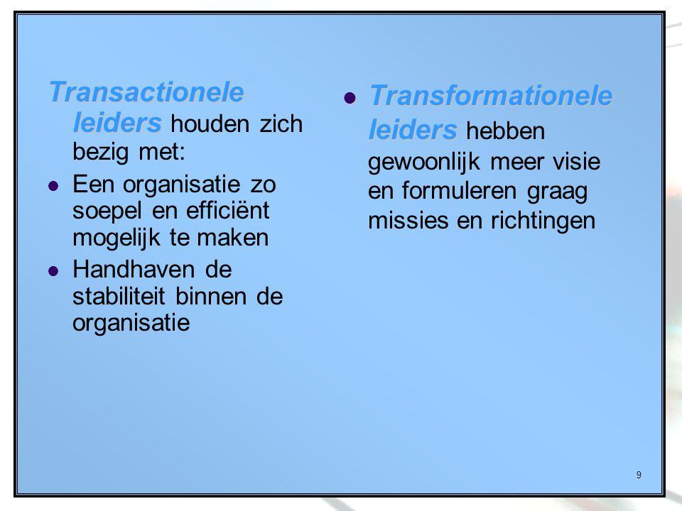 Transactionele leiders houden zich bezig met: