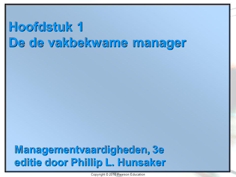 Hoofdstuk 1 De de vakbekwame manager