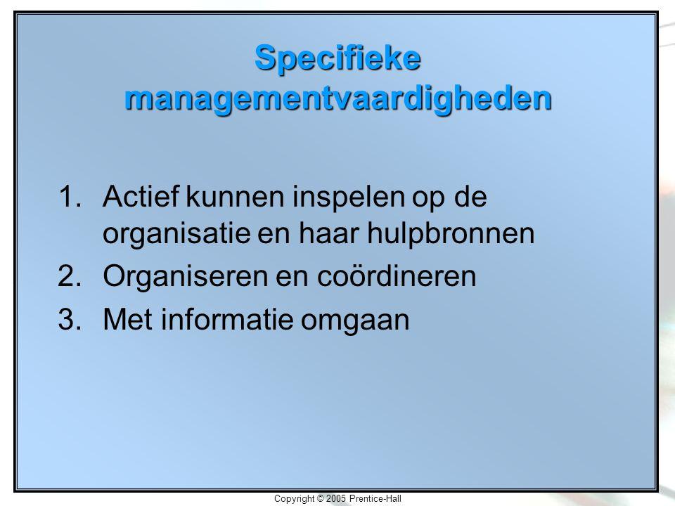 Specifieke managementvaardigheden