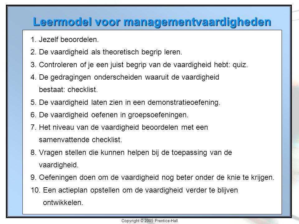 Leermodel voor managementvaardigheden