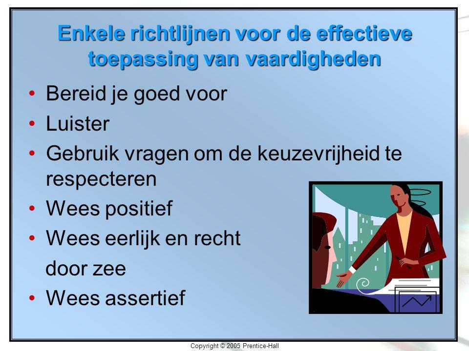 Enkele richtlijnen voor de effectieve toepassing van vaardigheden