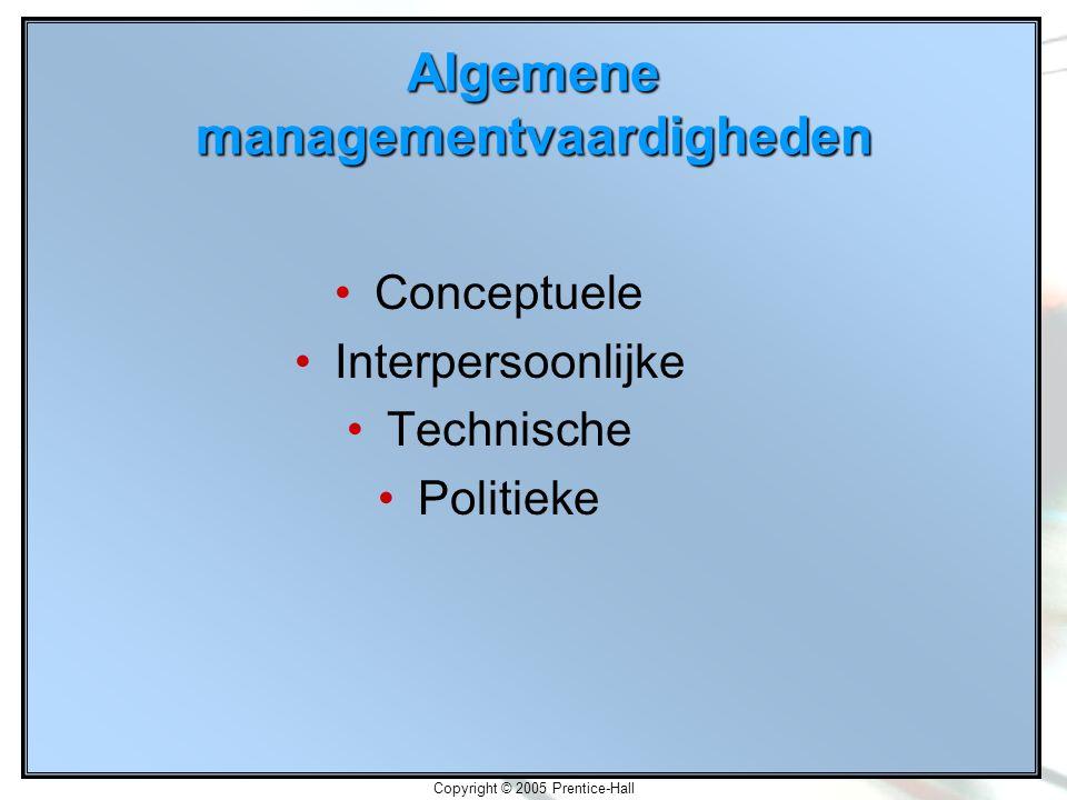 Algemene managementvaardigheden