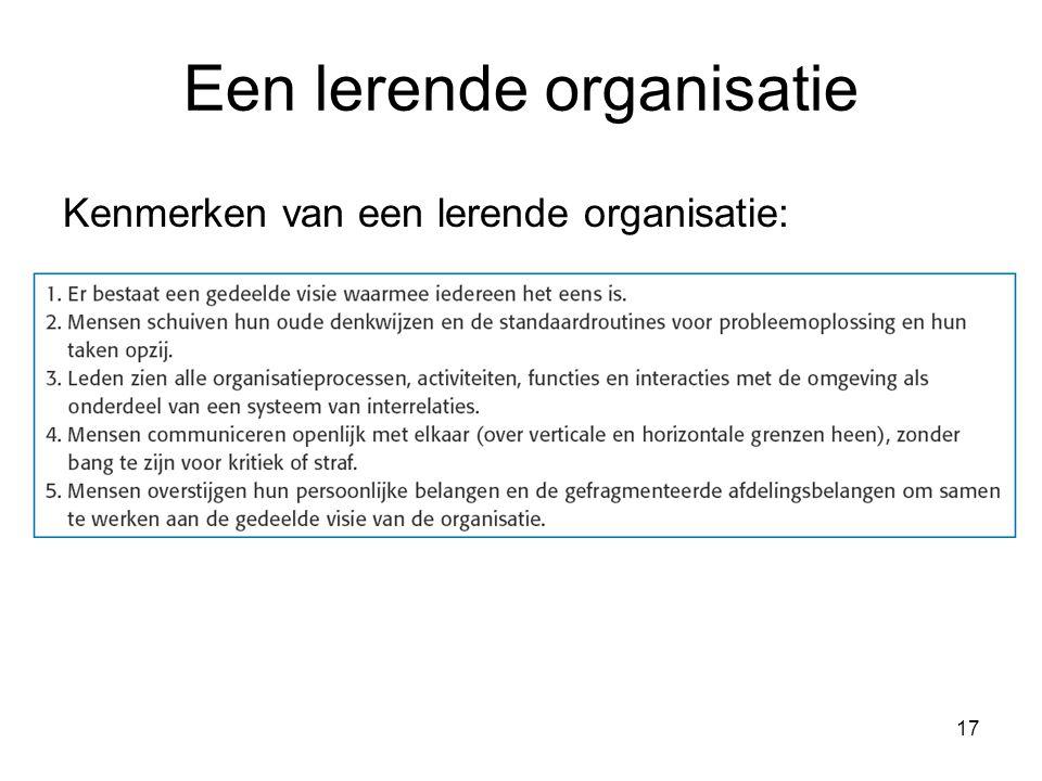 Een lerende organisatie
