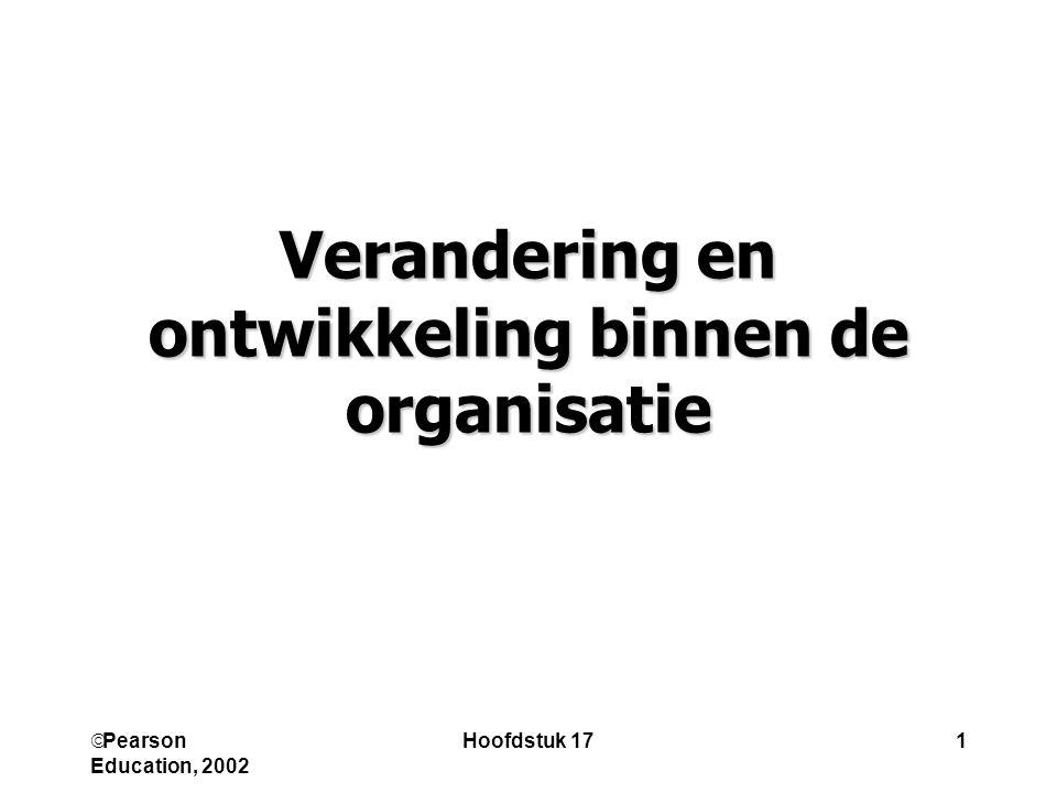 Verandering en ontwikkeling binnen de organisatie