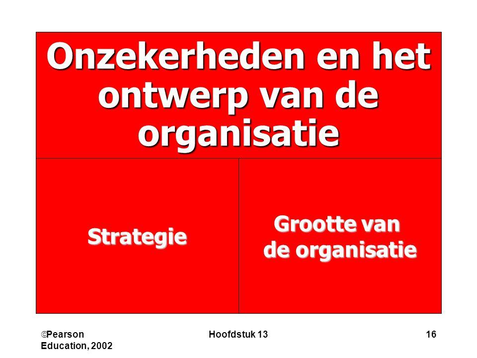 Onzekerheden en het ontwerp van de organisatie