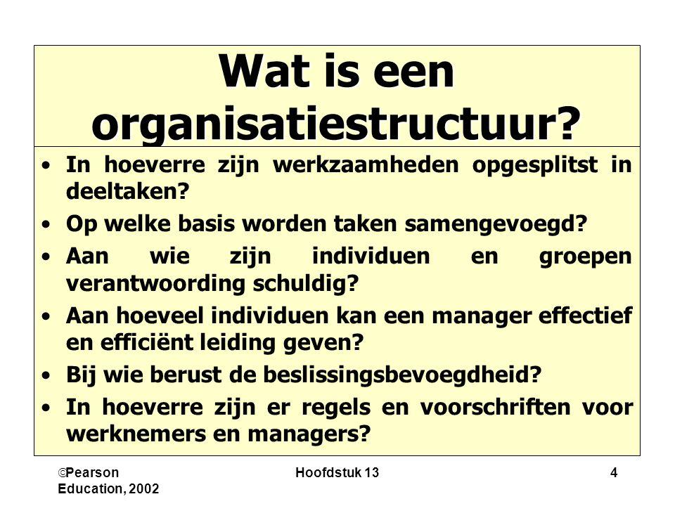 Wat is een organisatiestructuur