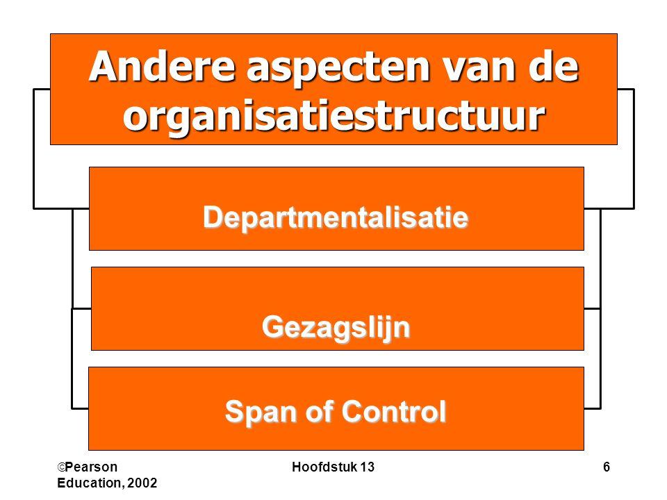 Andere aspecten van de organisatiestructuur