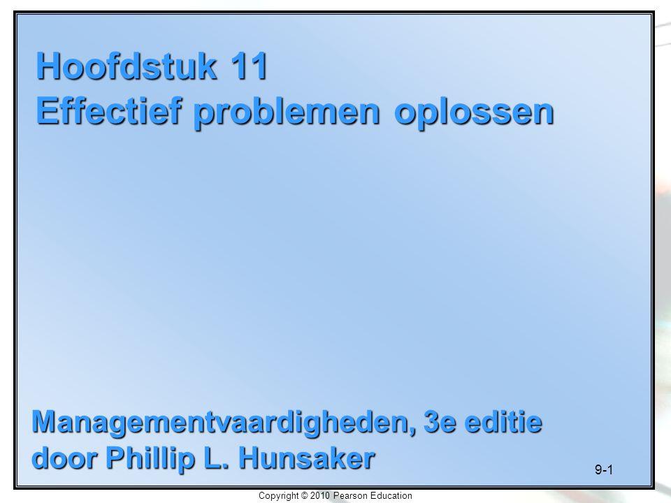 Hoofdstuk 11 Effectief problemen oplossen