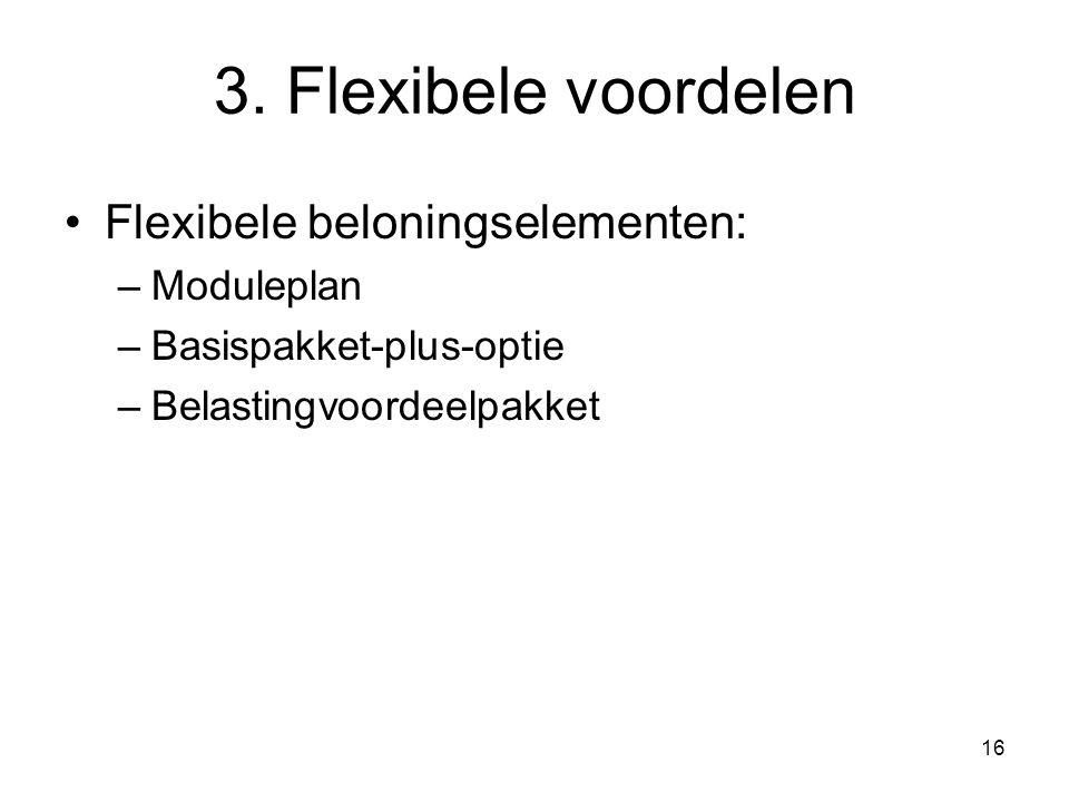 3. Flexibele voordelen Flexibele beloningselementen: Moduleplan