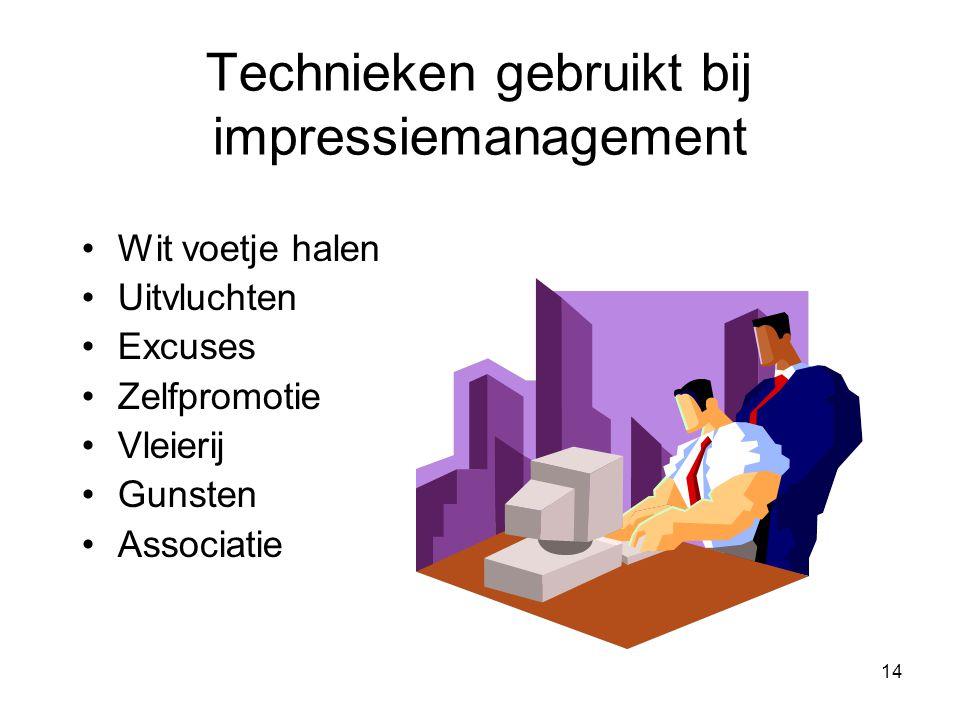 Technieken gebruikt bij impressiemanagement