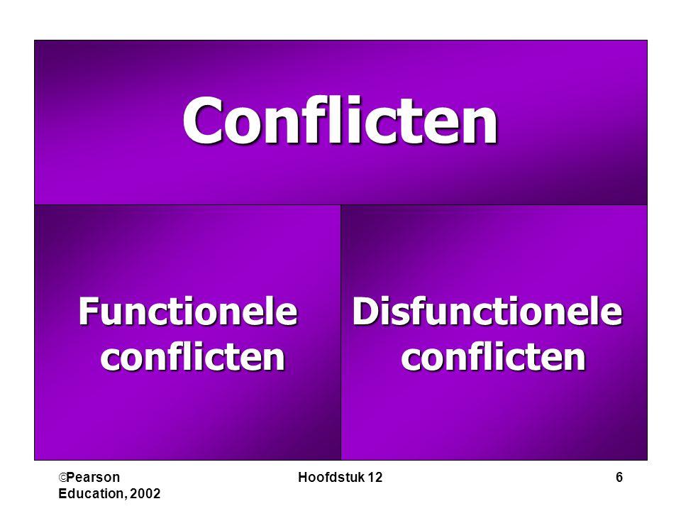 Conflicten Functionele conflicten Disfunctionele conflicten