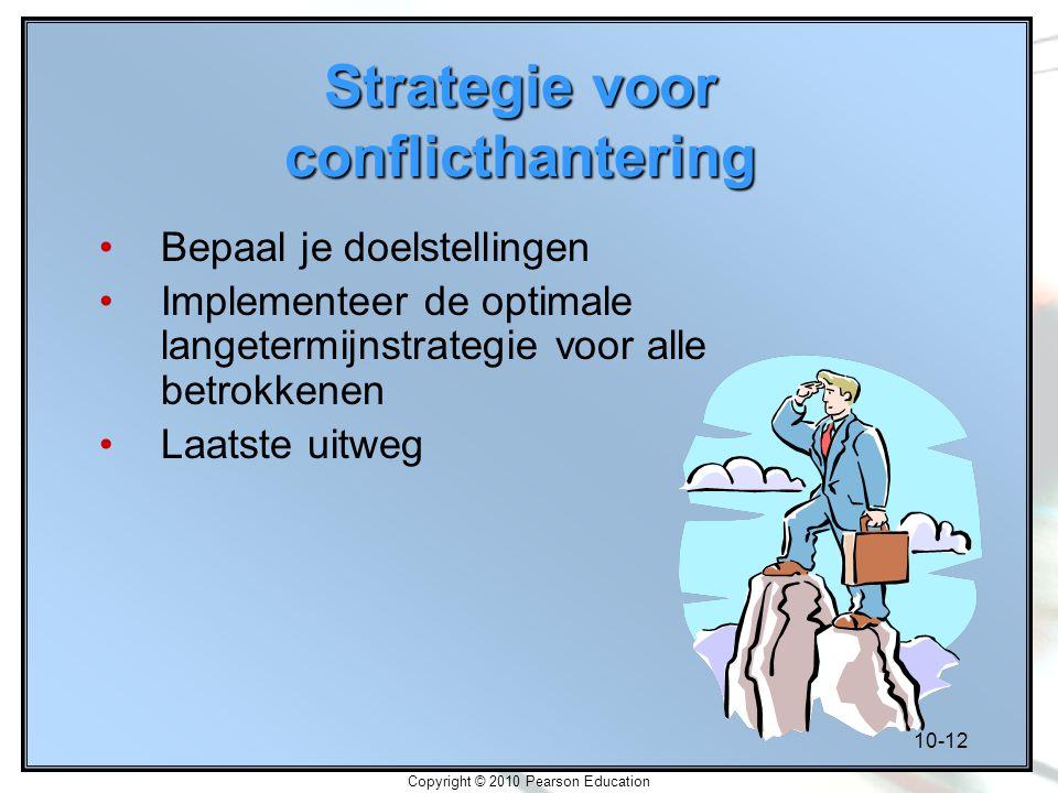 Strategie voor conflicthantering