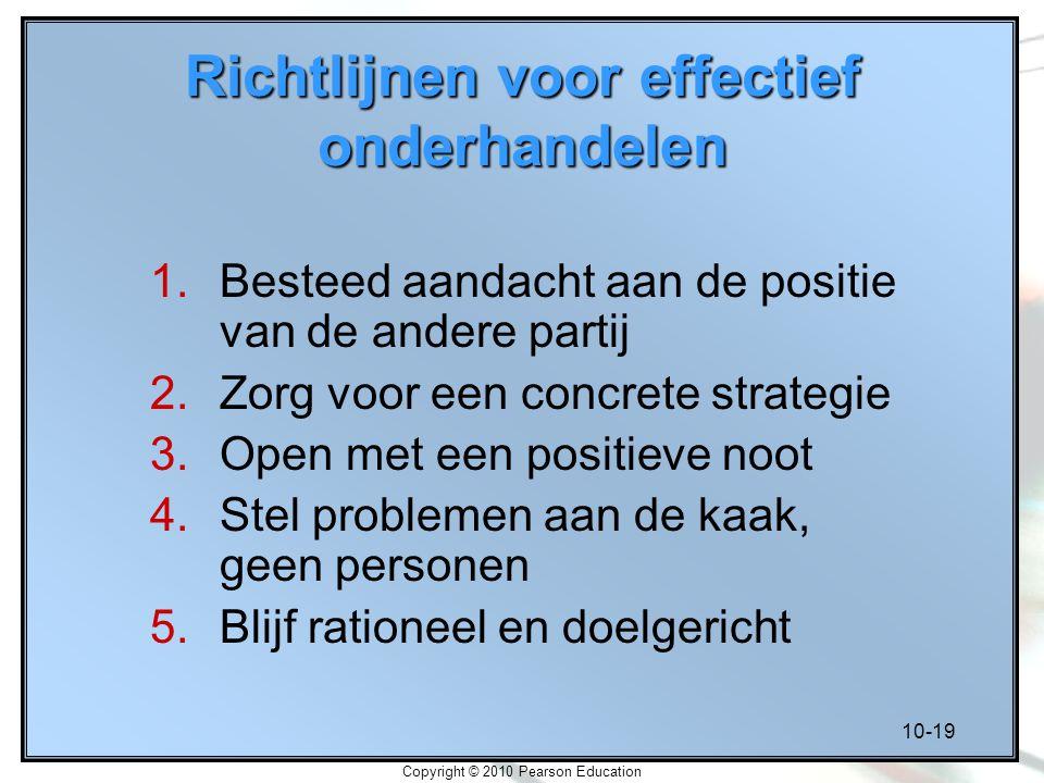 Richtlijnen voor effectief onderhandelen