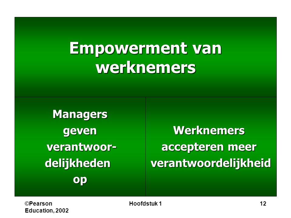 Empowerment van werknemers verantwoordelijkheid