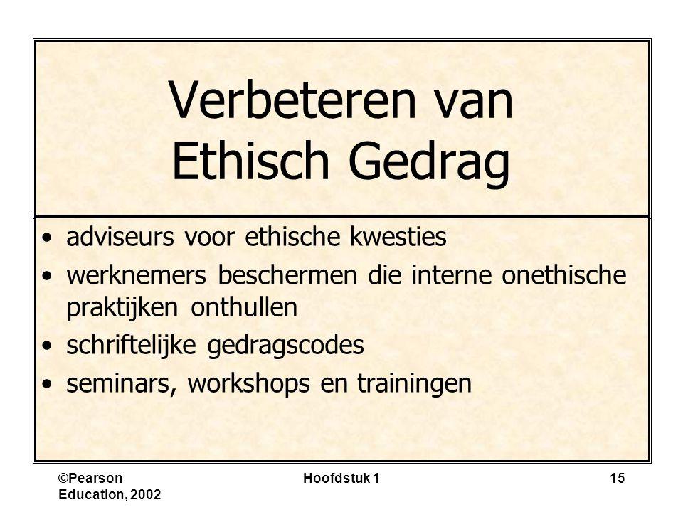 Verbeteren van Ethisch Gedrag