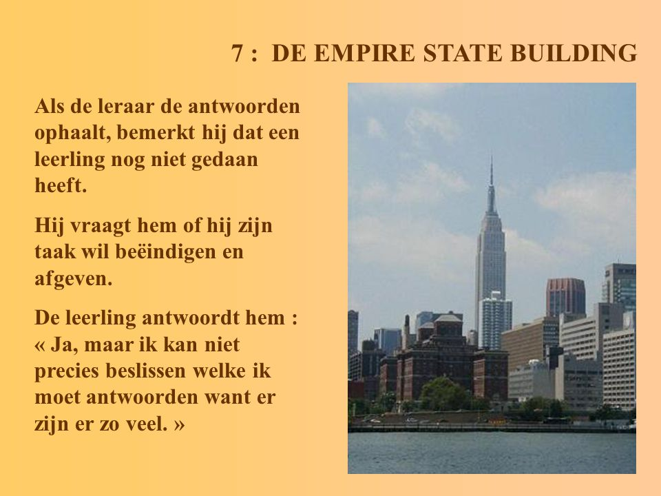 7 : DE EMPIRE STATE BUILDING