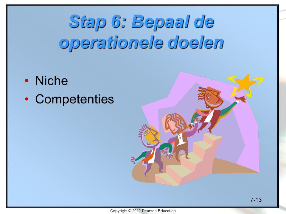 Stap 6: Bepaal de operationele doelen
