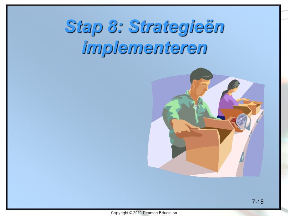 Stap 8: Strategieën implementeren