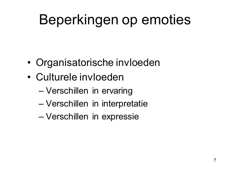 Beperkingen op emoties