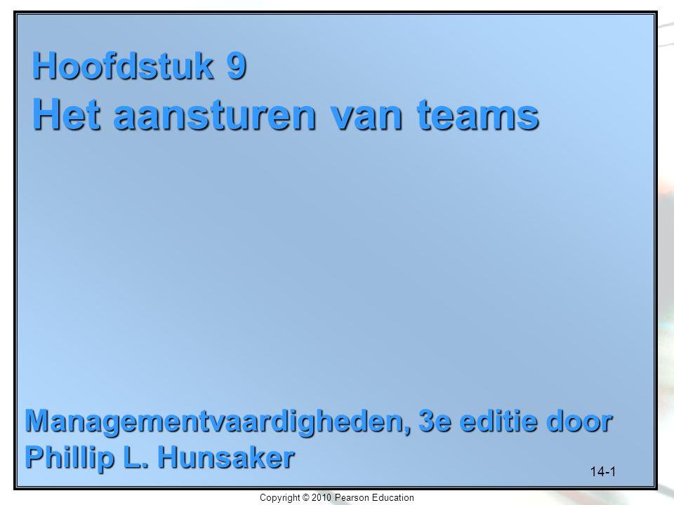 Hoofdstuk 9 Het aansturen van teams