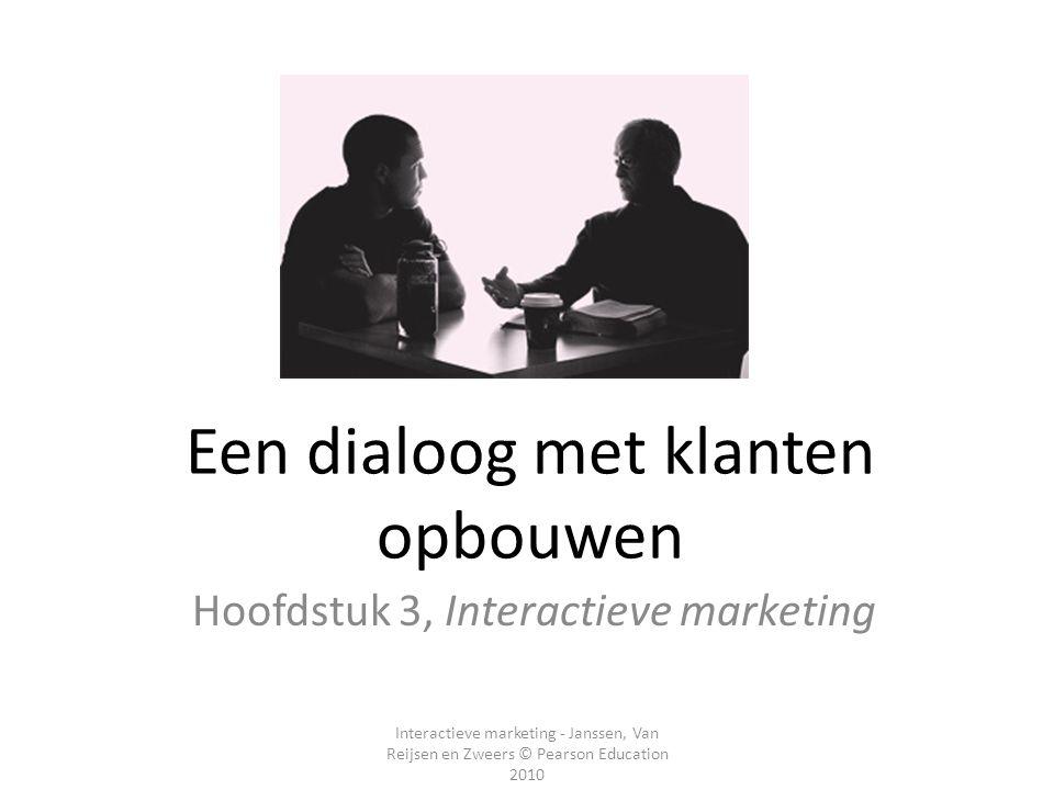 Een dialoog met klanten opbouwen
