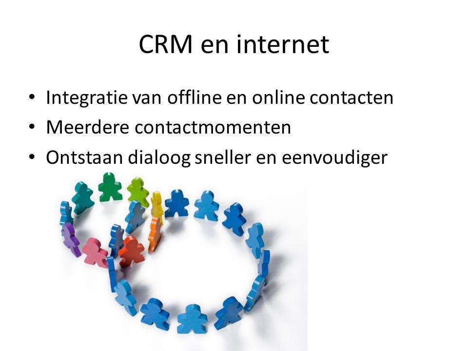 CRM en internet Integratie van offline en online contacten
