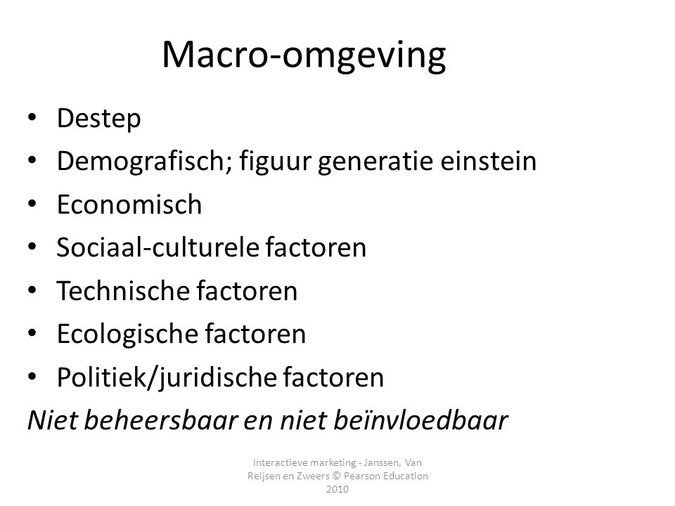 Macro-omgeving Destep Demografisch; figuur generatie einstein