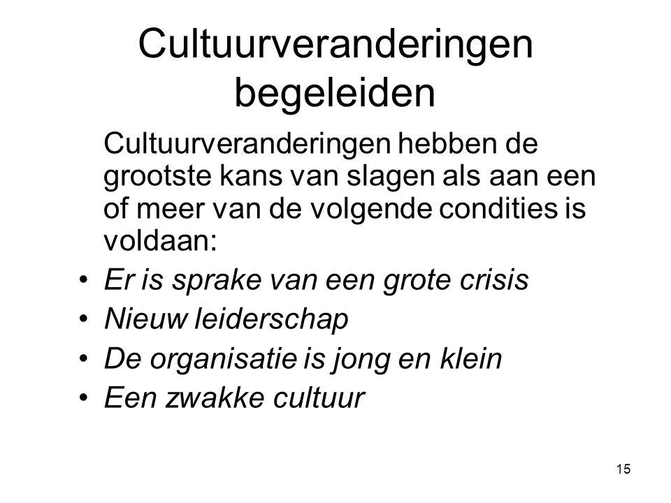Cultuurveranderingen begeleiden