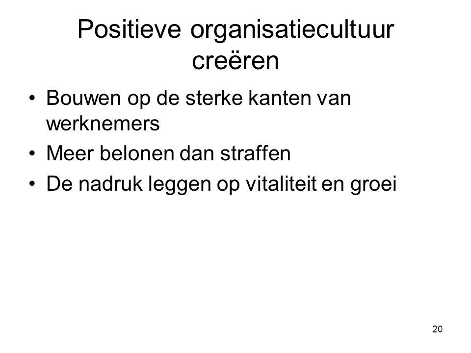 Positieve organisatiecultuur creëren