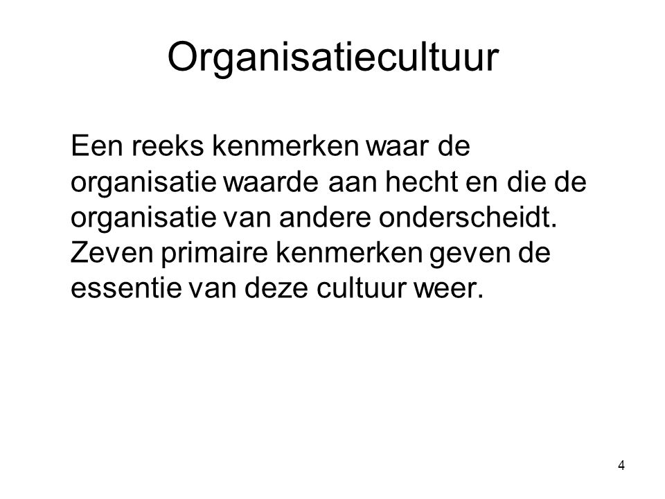 Organisatiecultuur