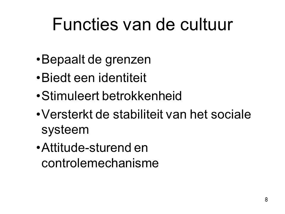 Functies van de cultuur