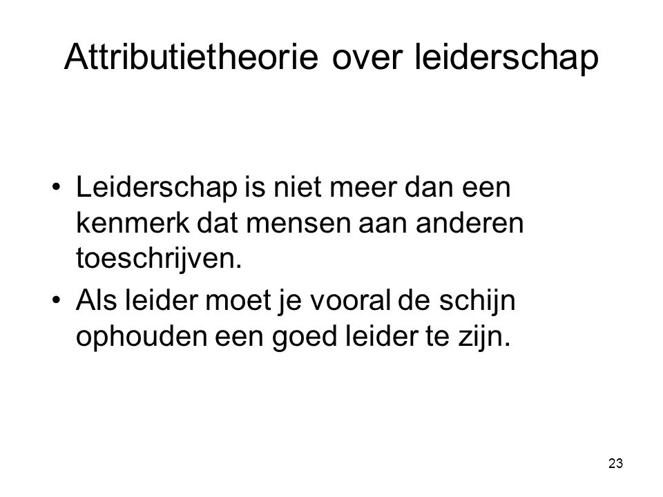 Attributietheorie over leiderschap