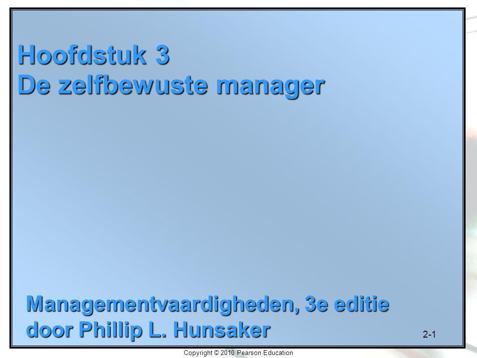 Hoofdstuk 3 De zelfbewuste manager