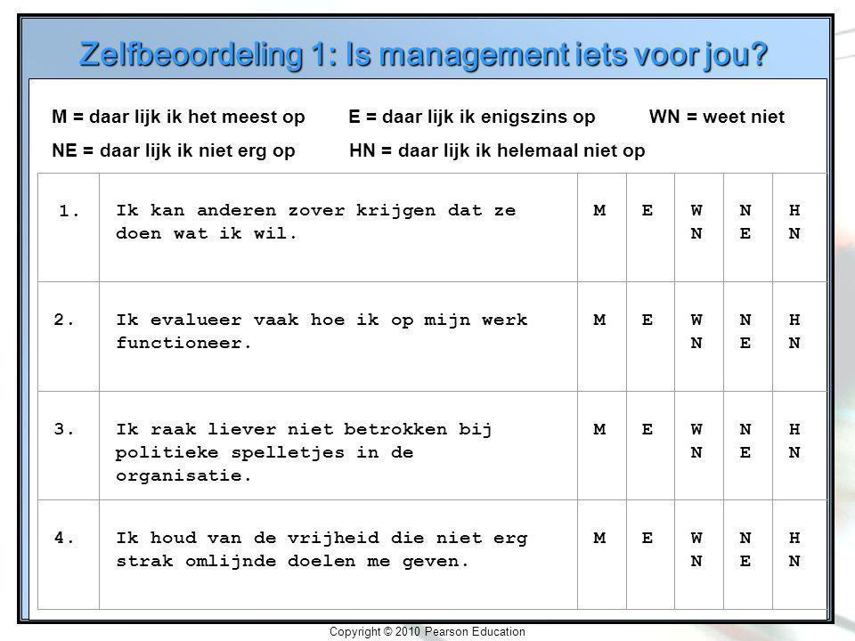 Zelfbeoordeling 1: Is management iets voor jou