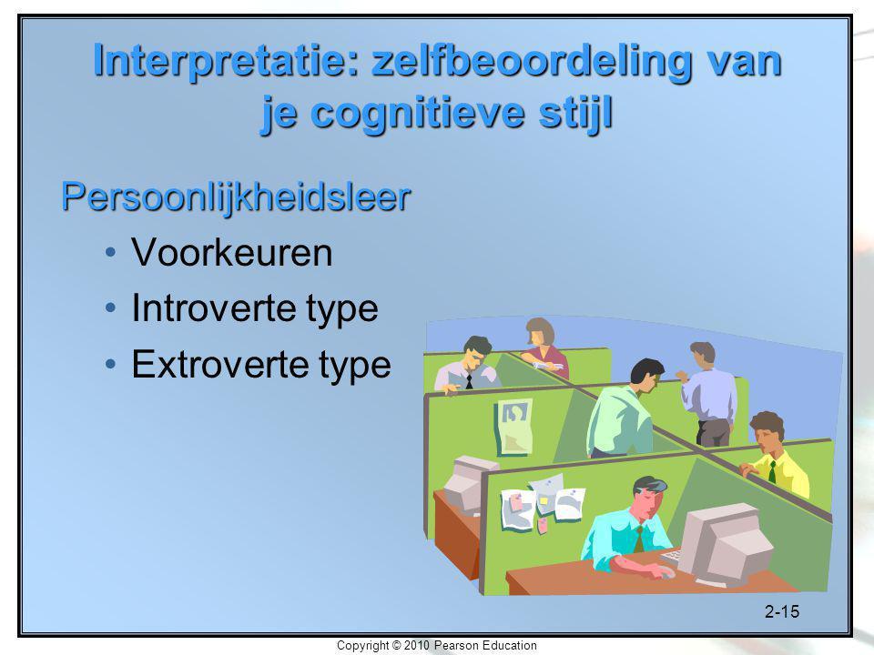 Interpretatie: zelfbeoordeling van je cognitieve stijl
