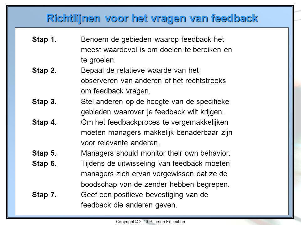 Richtlijnen voor het vragen van feedback