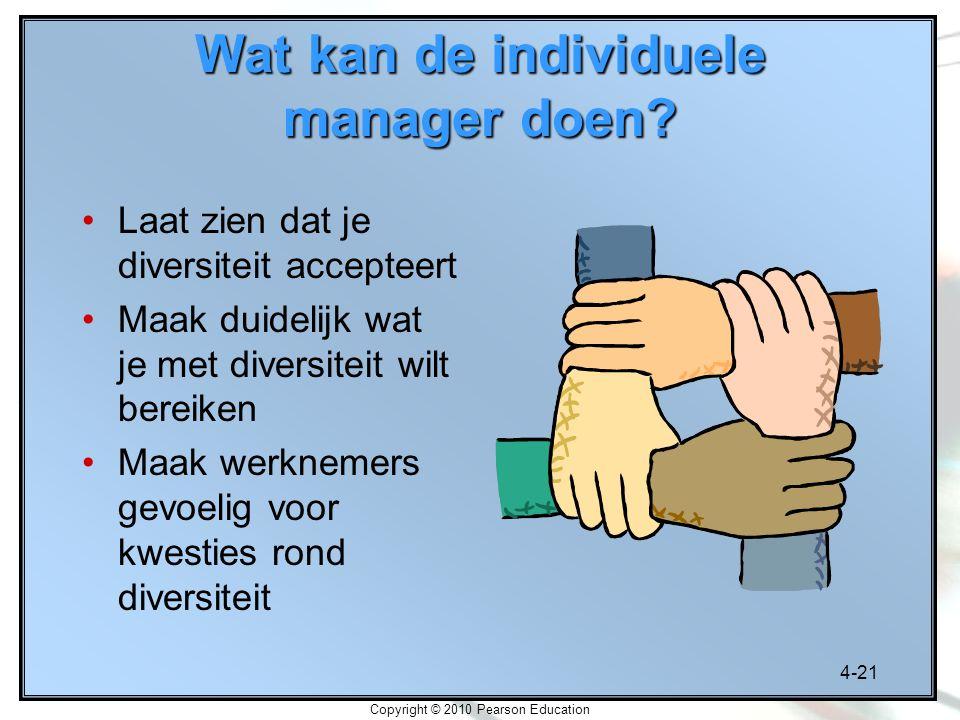 Wat kan de individuele manager doen