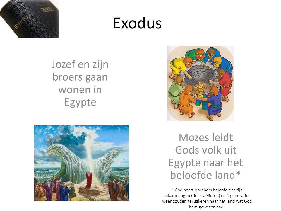 Jozef en zijn broers gaan wonen in Egypte