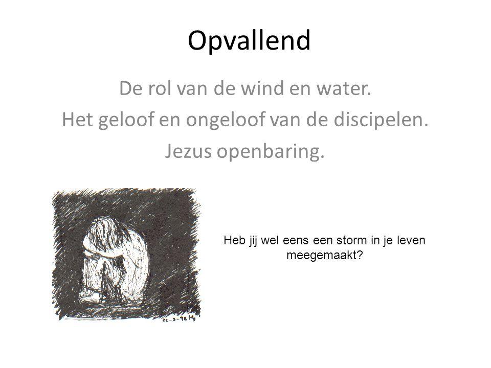 Opvallend De rol van de wind en water.