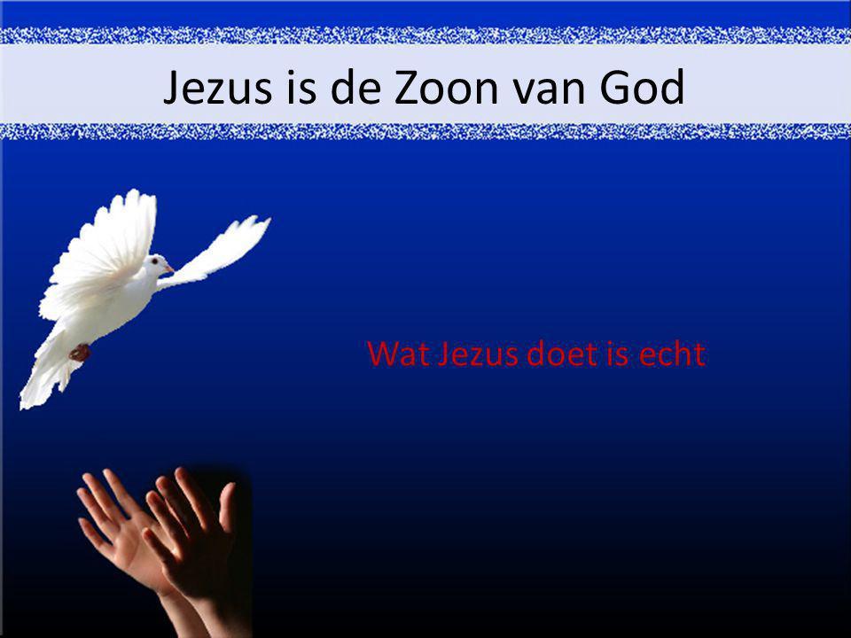 Jezus is de Zoon van God Wat Jezus doet is echt