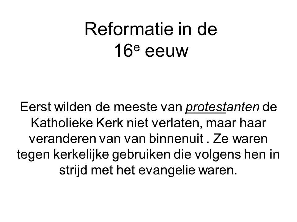 Reformatie in de 16e eeuw