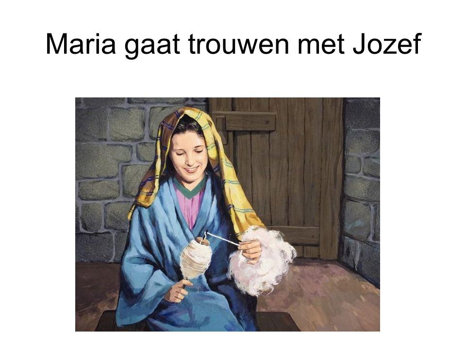 Maria gaat trouwen met Jozef