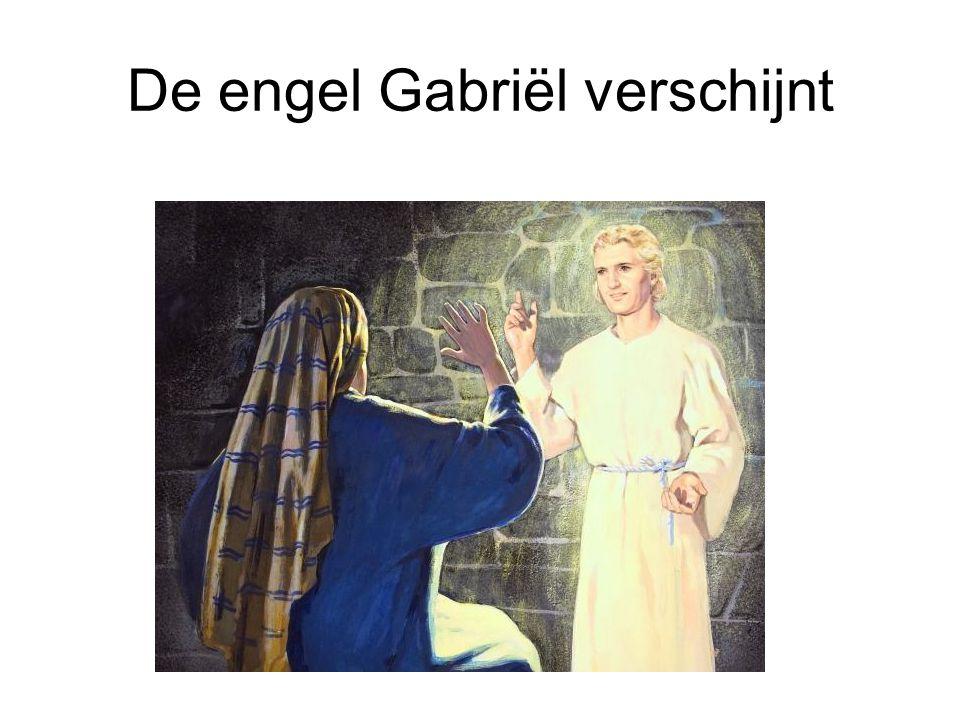 De engel Gabriël verschijnt