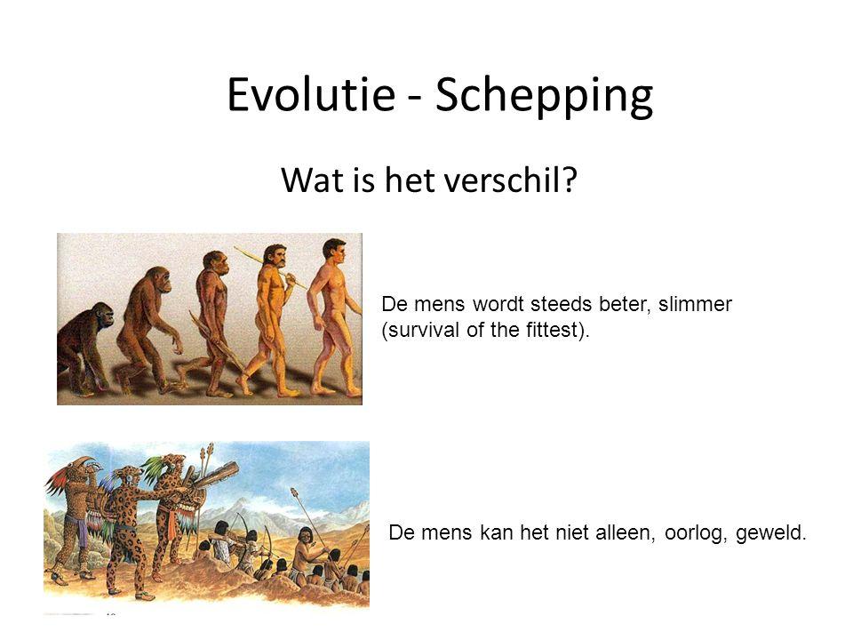 Evolutie - Schepping Wat is het verschil