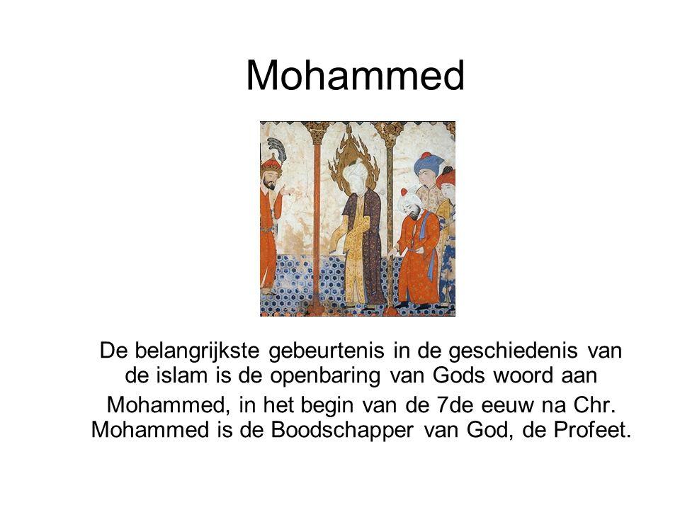 Mohammed De belangrijkste gebeurtenis in de geschiedenis van de islam is de openbaring van Gods woord aan.
