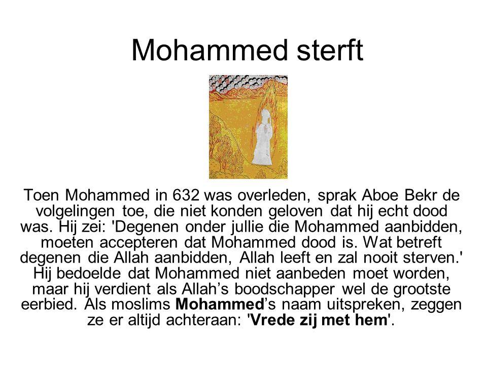 Mohammed sterft