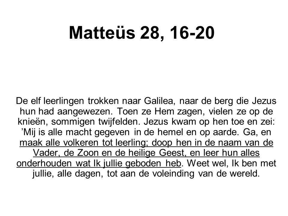 Matteüs 28, 16-20