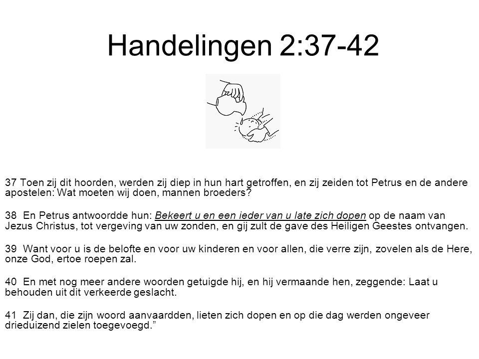 Handelingen 2:37-42