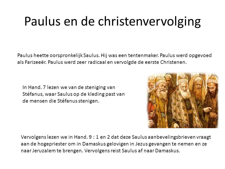 Paulus en de christenvervolging