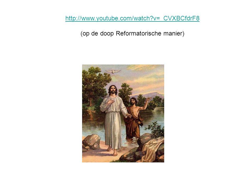 (op de doop Reformatorische manier)